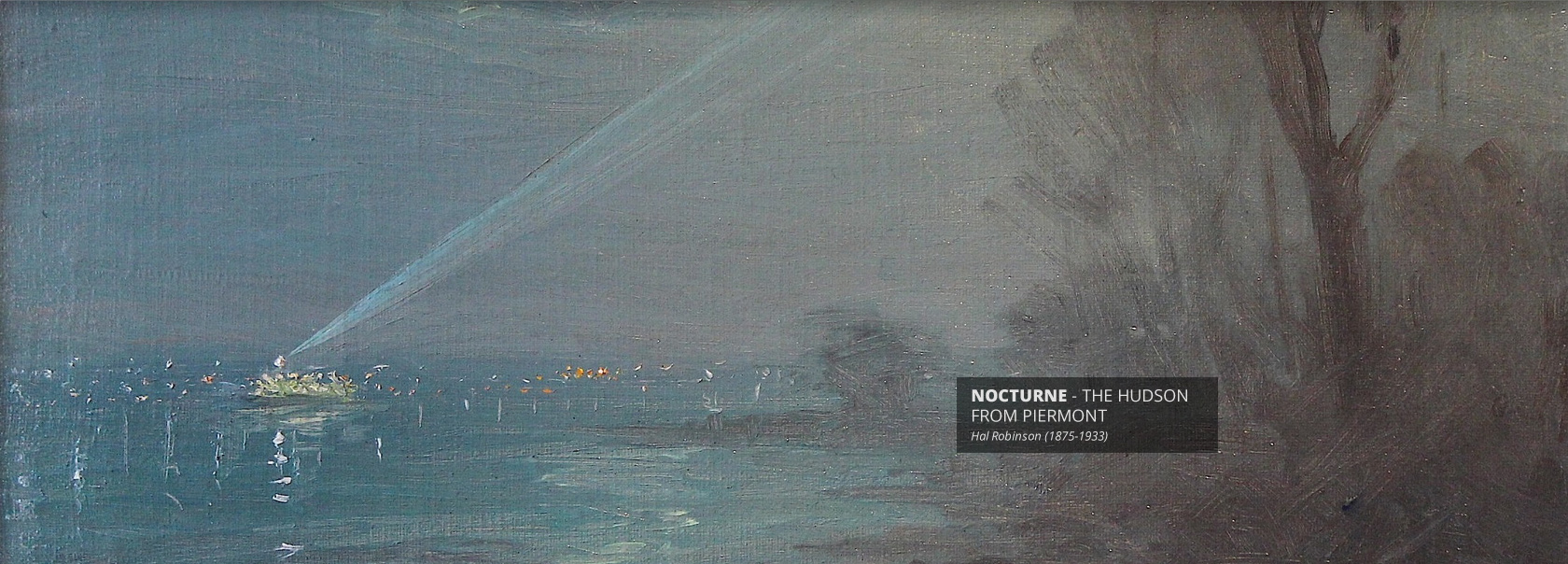 Nocturne The Hudson From Piermont by Hal Robinson