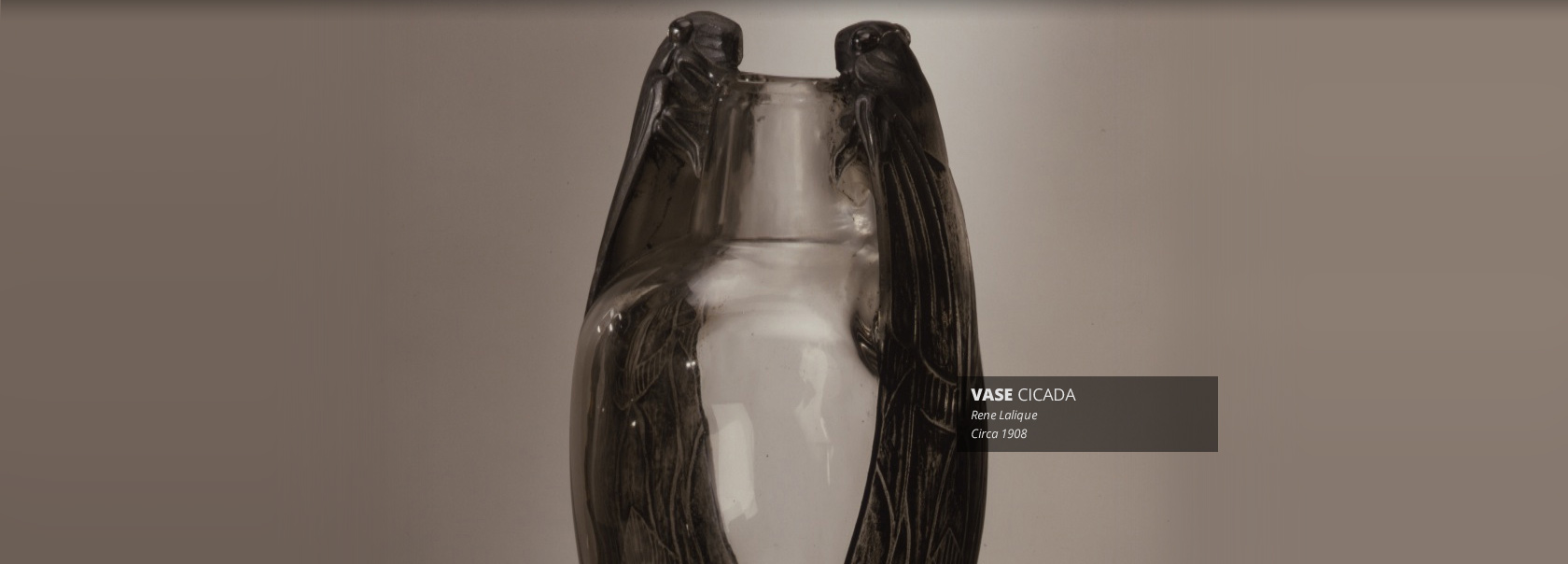 Vase Cicada by Rene Lalique